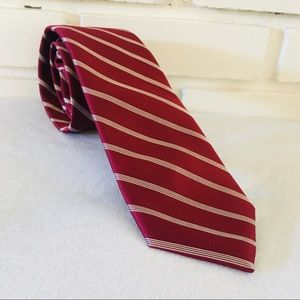 Stafford Dark Red Tie Stripes Tailored Culture